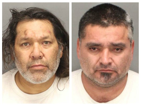 Suspects Phillip Prieto (left) and Juan Vidal Gonzalez have pleaded not guilty to gun and drug charges.