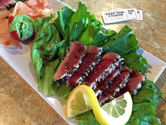 For dinner? Ahi tuna is one choice at the Englewood Moose Lodge, and you can enter the 50/50 raffle too.
