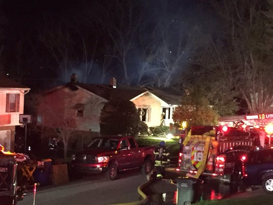 Crews responded to the scene of a working house fire in York Township Sunday night.