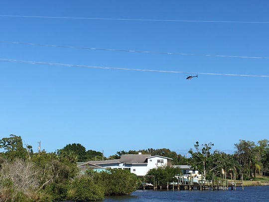 The Brevard County's Sheriff's helicopter was used