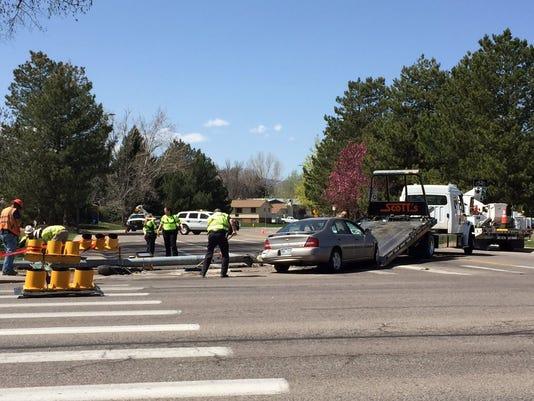 Car crash at Lemay and Swallow