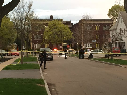 Police were on the scene of fatal shooting in southwest Rochester on April 25 on Flanders Street.