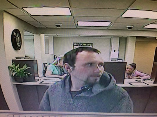 Police released an image of the suspect in a Monday afternoon bank robbery at United Fidelity Bank on Evansville's West Side.