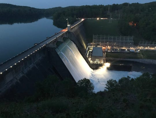 Water release at Norris Dam has been putting on quite