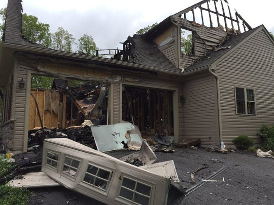 A Lower Windsor Township house fire displaced a family of four.