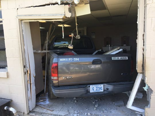 A city truck crashed into Gateway Rescue Mission on