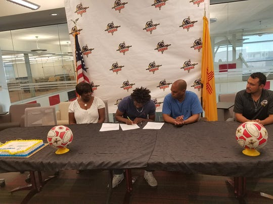 Centennial's Quentin Reese signed to play soccer for the University of Illinois at Springfield on Wednesday.