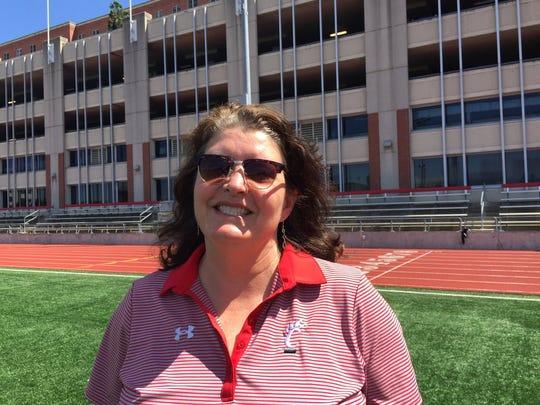 University of Cincinnati head track & field coach Susan