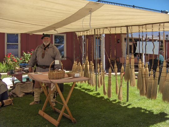 A local artist and craftsman sells homemade household