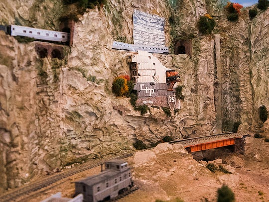 The many model train layouts at the Santa Fe Depot