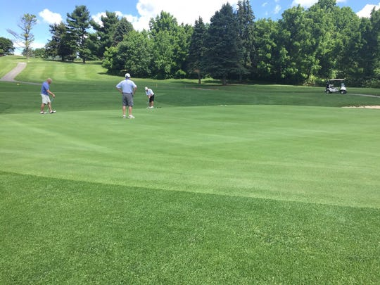It was a bit breezy for the first round of the Lebanon County Amateur on Saturday, but despite Friday night's heavy rain, conditions at Fairview Golf Course were excellent.
