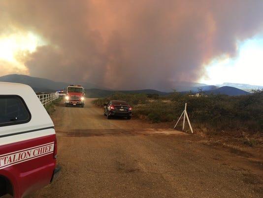 Goodwin Fire on June 27, 2017