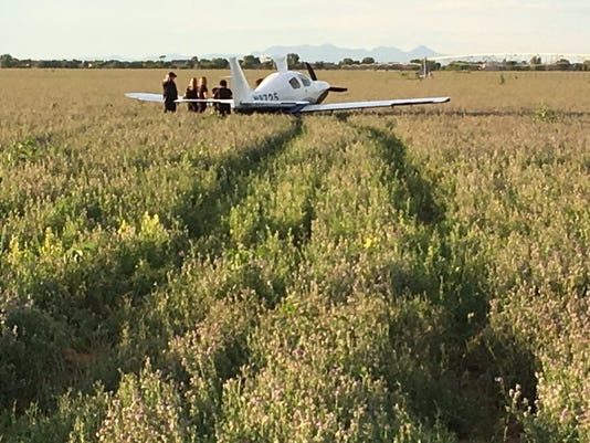 Single-engine airplane in south Chandler
