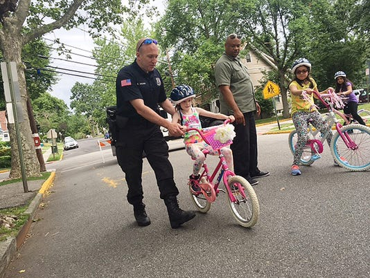 June 8, 2016 Rutherford bike rodeo by Green Team Jaimie Julia Winters