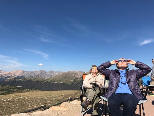 Coloradoan reporter Nick Coltrain watched the eclipse from the Gore Range overlook in Rocky Mountain National Park.