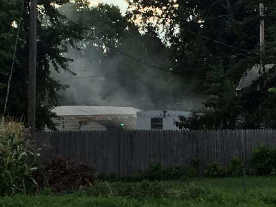 A mobile home caught fire at 3101 N. Starr Place on Thursday.