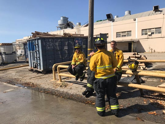 26 firefighters and three chiefs tackled the fire.