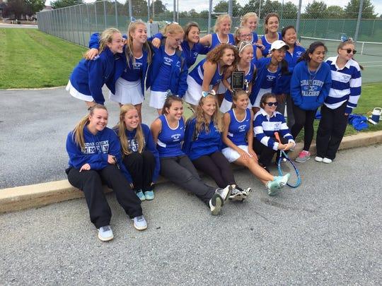 The Cedar Crest girls tennis team captured its sixth