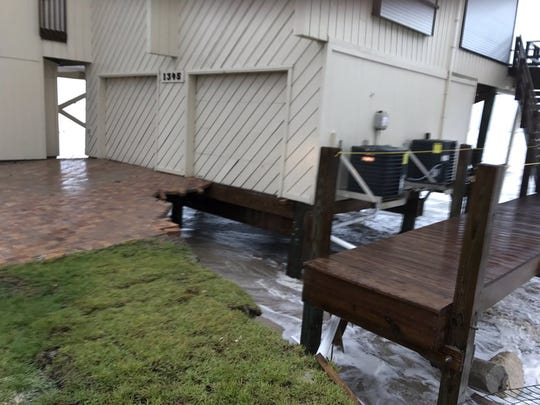 The Sheriff's Office is concerned this home at Bathtub Beach will topple over into the ocean.