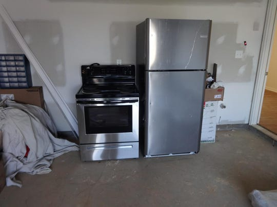 Four pairs of stoves and refrigerators were stolen