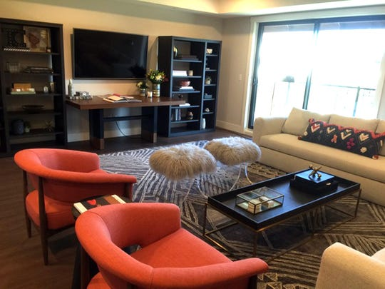This open concept loft designed by Amy Carman has a