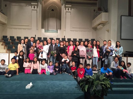 Pictured is the congregation of Hattiesburg Christian Chinese Church, which currently meets at Hardy Street Baptist. It is building a new church on Oak Grove Road.