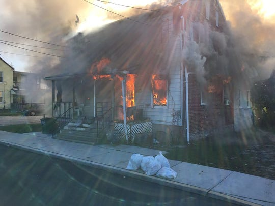 A home with two connected units caught fire on the 500 block of East Boundary Avenue in York on Tuesday.