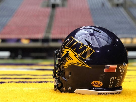 Northern Iowa will wear a special helmet decal Saturday