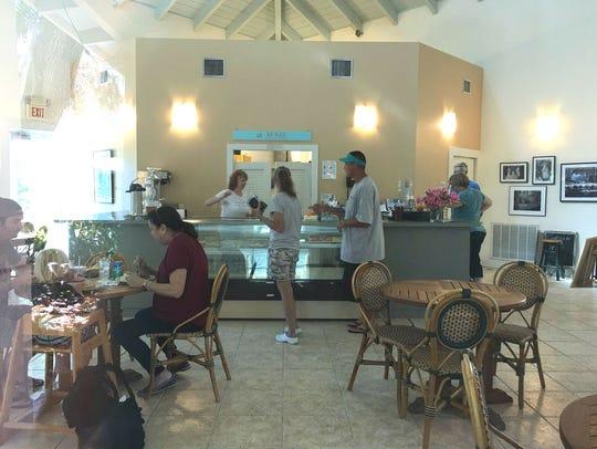 Inside the cafe at McKee Botanical Garden. Sealantro