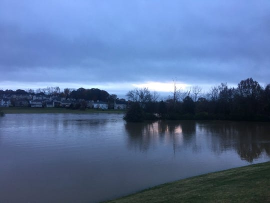 Flooding at Mill Creek Park Greenway in Antioch.
