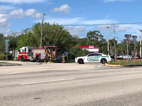 A fire was reported at the indoor gun range in the