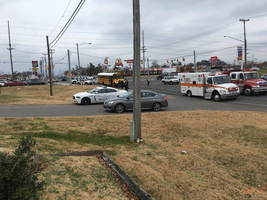 Two Metro Nashville school buses were involved in a