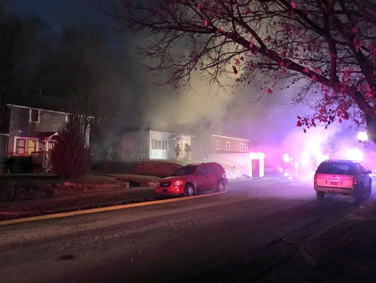 Smoke surrounds Covell Avenue near 6th Street