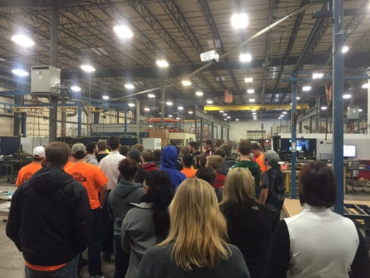 Ottawa County students take a tour of Northern Manufacturing