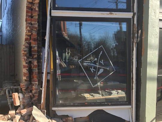 A car crashed into Shop Local Kentucky's Louisville