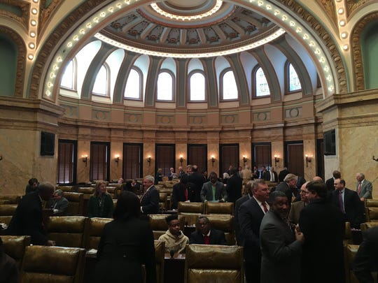 This file photo shows the Mississippi Legislature