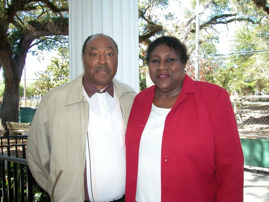 Melvin Morgan with her late husband, Fred.