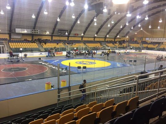 The mats at Codey Arena in West Orange for the annual