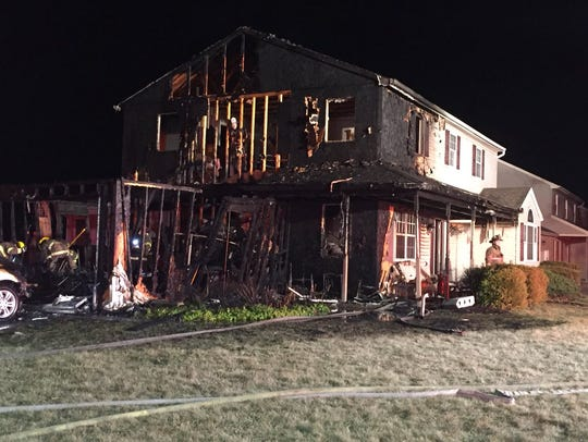 Crews responded to a fire in the 3900 block of Quail