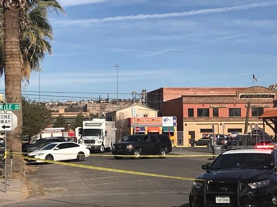 The El Paso Police Department's Bomb Squad on Tuesday morning set up outside the Social Security Administration building in Downtown El Paso in the 600 block of Texas Avenue.