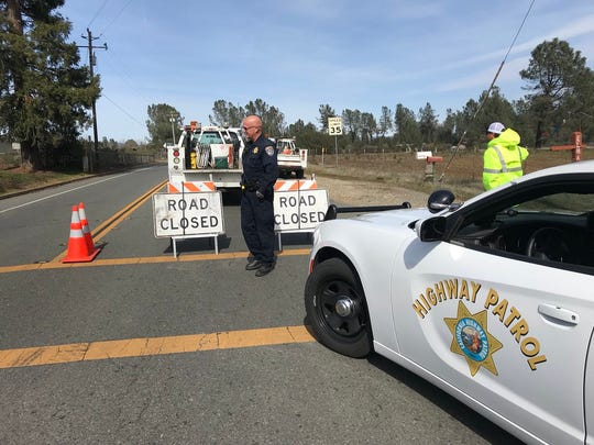 Happy Valley Road at Palm Avenue is closed Tuesday afternoon due to discovery of explosives in area