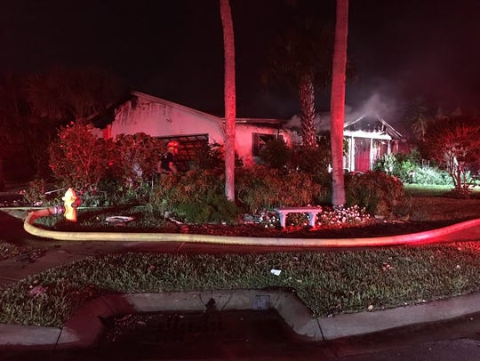 A Satellite Beach home was badly damaged by fire early