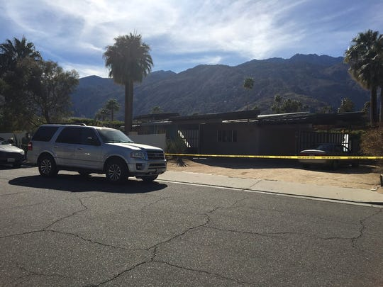 Palm Springs police are investigating a death at Alejo and Arquilla roads Monday afternoon, March 5, 2018.