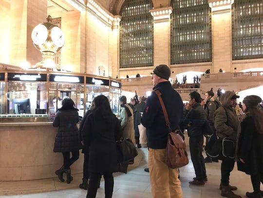 7:40 p.m. All trains are suspended at Grand Central