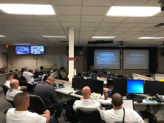 Members of the Florida Forest Service met with Brevard County Fire Rescue, Emergency Management and the Sheriff's Office to discuss the dry conditions that will heighten the wildfire threat this month and into April.
