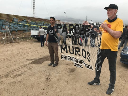 """Daniel Watman, a U.S. citizen living in Tijuana, is calling for parks instead of walls. """"The separation results in people not getting to know each other."""""""
