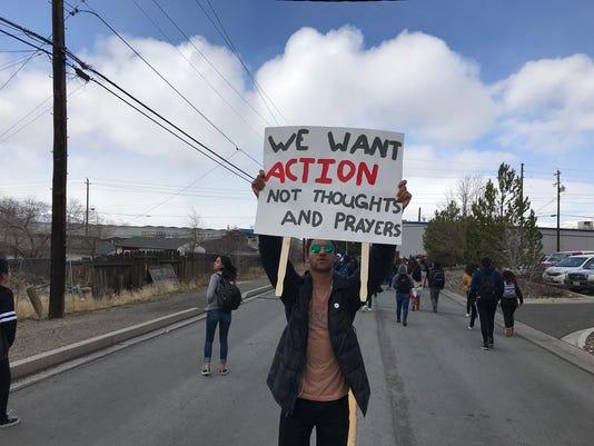 Hug High School student walkout