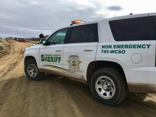 Washoe County deputies find body in burning truck in Stead