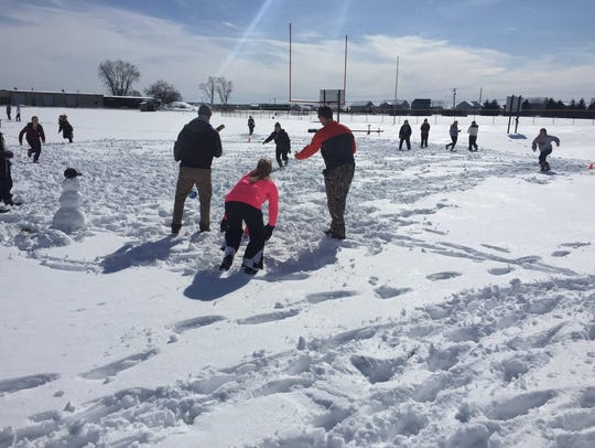 The Palmyra softball team didn't let the snow that