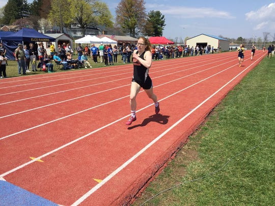 Palmyra's Ellie Keck rolled to the county title in the 800 meters on Saturday.